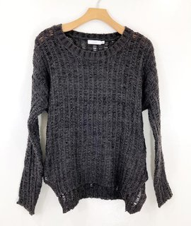 Lush Clothing Lush Open Knit Long Sleeve Sweater