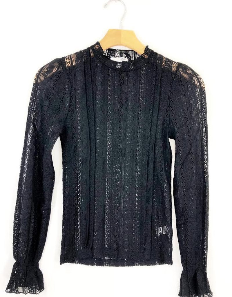 Amuse Society Amuse Society All About That Lace Knit Long Sleeve