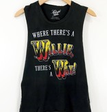 Midnight Rider Midnight Rider Where There's a Willie Women's Muscle Tank