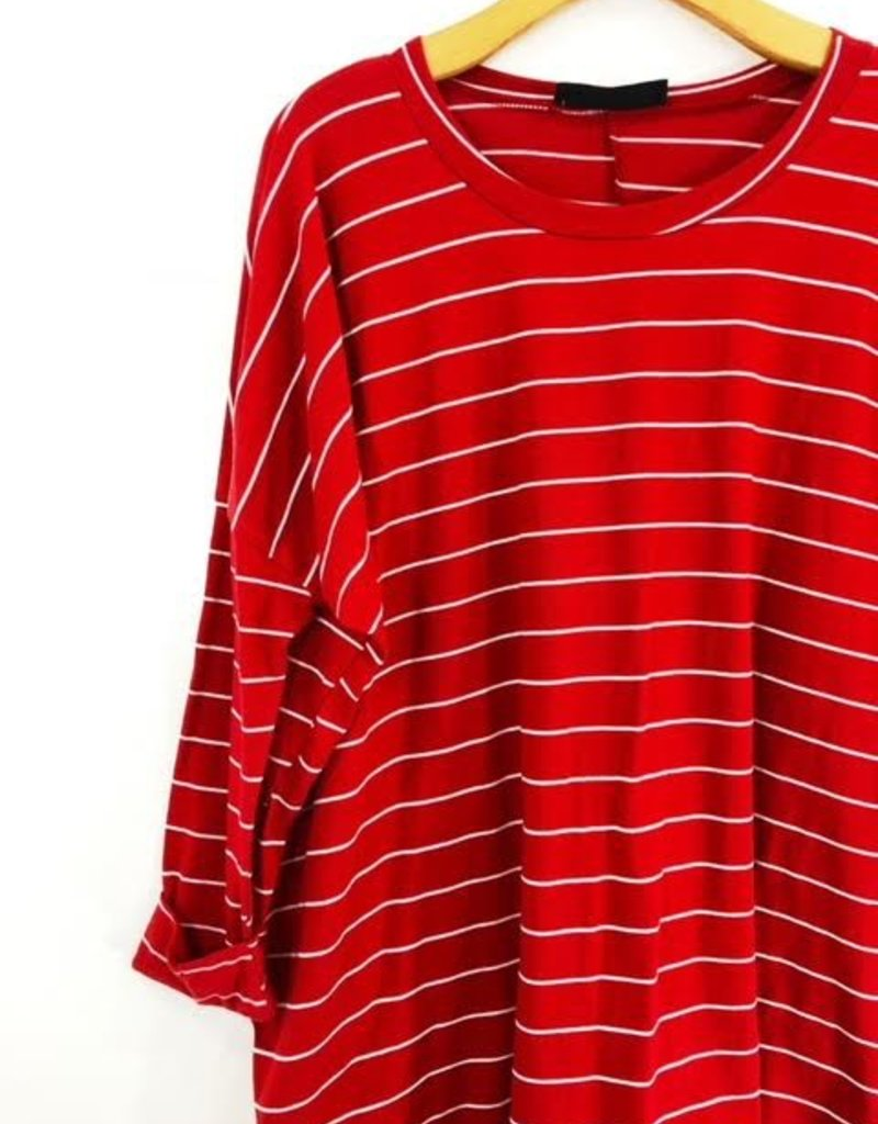 Audrey 3+1 Oversized Scooped Knit Shirt