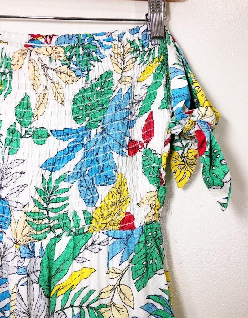 Lush Clothing Lush Tie Sleeve Print Romper