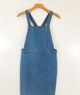 Audrey 3+1 Baby Girl Jean Overall Dress