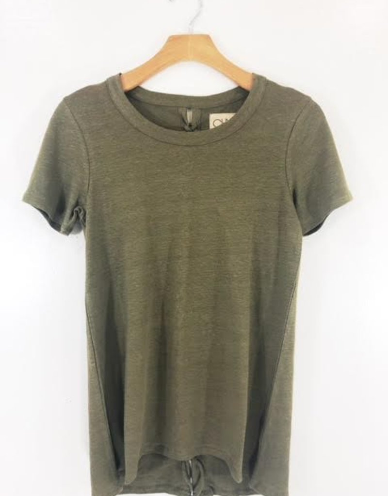 Chaser Brand Chaser Brand Lace-Up Back Hi-Lo Tee