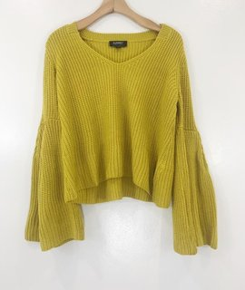 Audrey 3+1 Audrey 3+1 Bella Knit Flare Sleeve Sweater