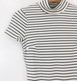 Audrey 3+1 Audrey 3 + 1 Striped Highneck Bodysuit