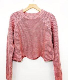 Lush Clothing Lush Scallop Crop Sweater