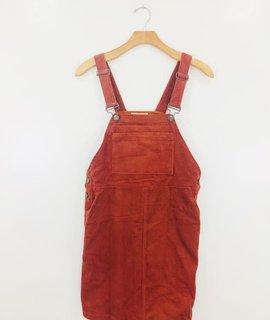 Listicle Hopscotch Corduroy Overall Dress