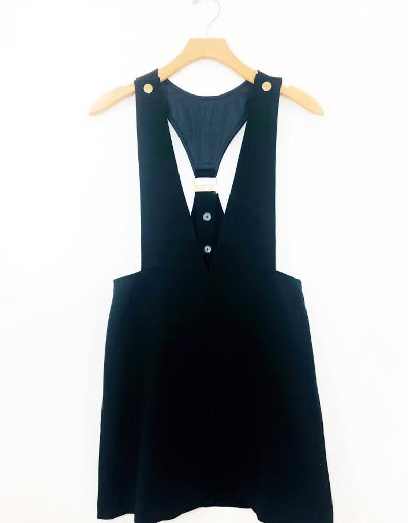 Audrey 3+1 Audrey 3+1 School Girl Plunge Overall Dress