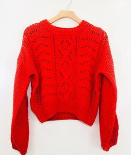 Lush Clothing Lush Fiesta Cable Knit Sweater