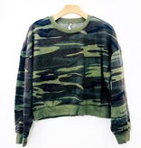 Z Supply Z Supply Camo Cropped Pullover