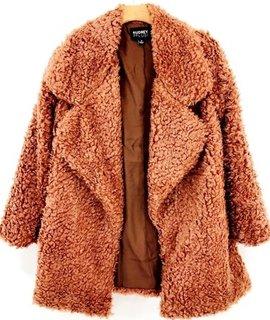 Audrey 3+1 Audrey 3+1 Shaggy Faux Fur Jacket