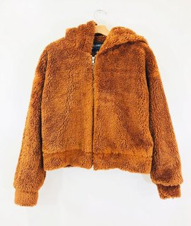 Audrey 3+1 Audrey 3+1 Fuzzy Wuzzy Teddy Bear Hooded Zip Jacket