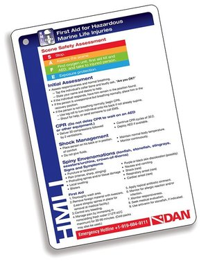 Dive & Photo DAN First Aid for Hazardous Marine Life Injuries w/slate card 351-3480