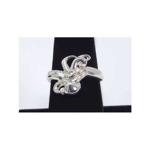Nautilus Jewelry NAUTILUS JEWELRY OCTOPUS RING SILVER