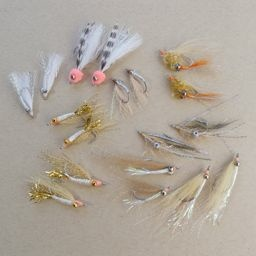 In House Bahamas Bonefish Fly Selection