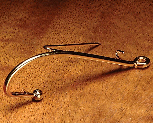 Hareline Gold Brooch Pin Hook