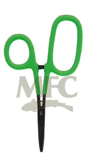"Montana Fly Co MFC Hot Grip 5 1/2"" Scissors/ Forceps, Chartreuse"