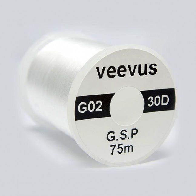 Hareline Veevus 30 Denier GSP White Thread