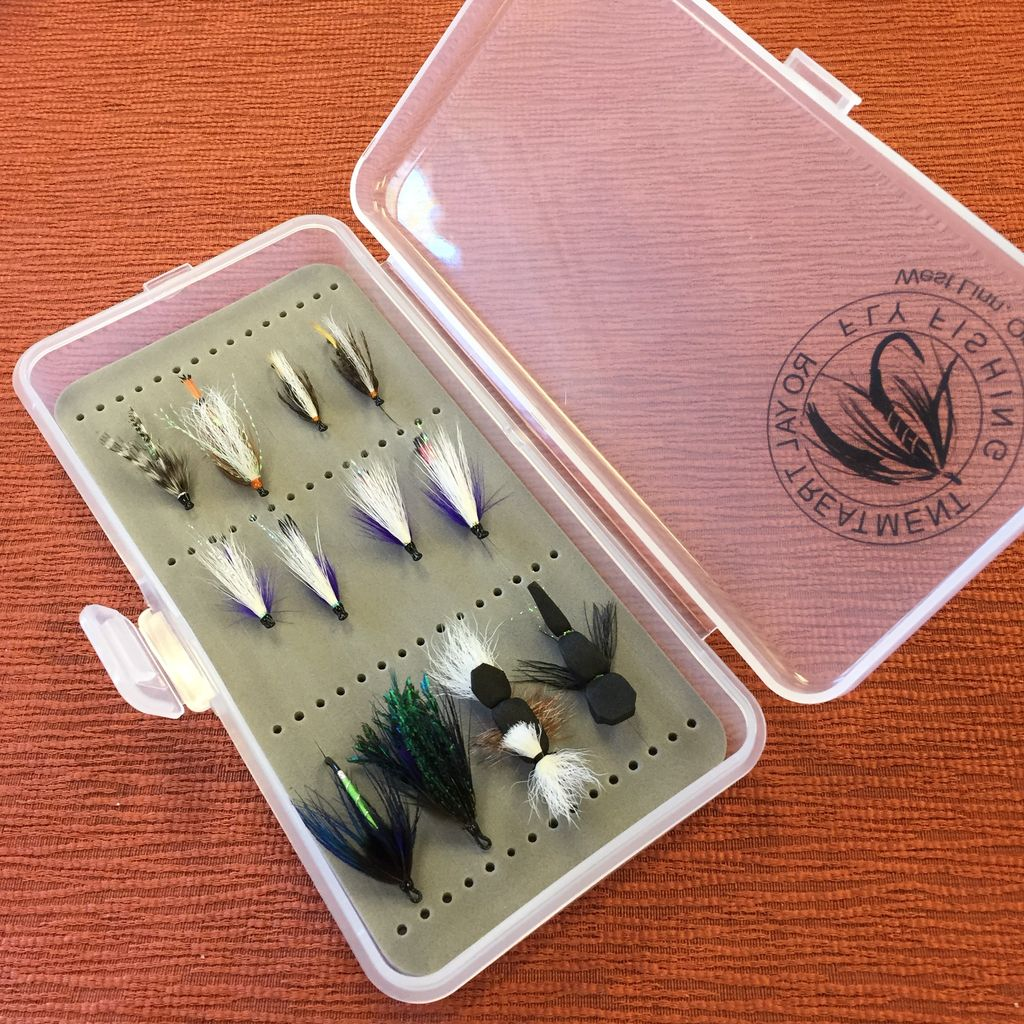 In House Summer Steelhead Fly Selection 12 flies in a box