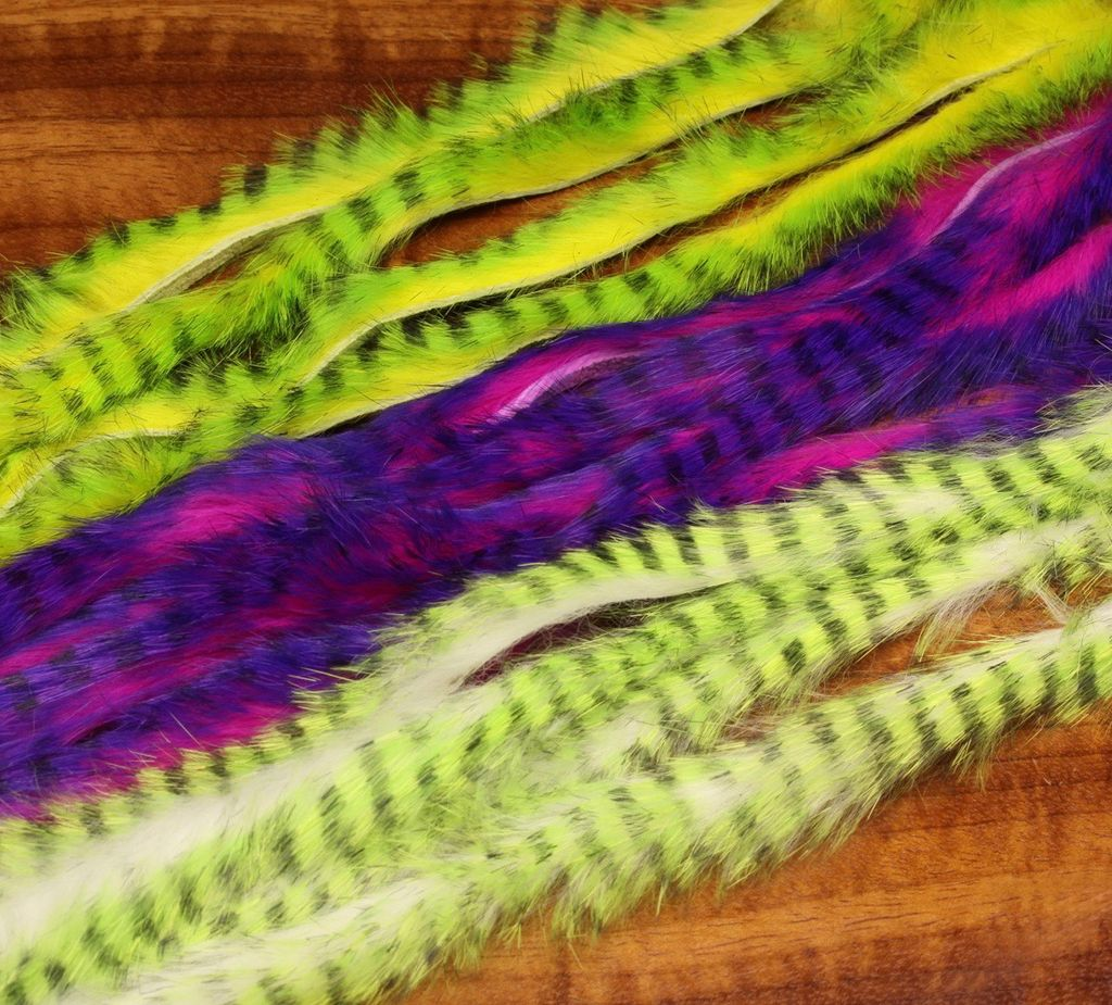 Hareline Tiger Barred Rabbit Strips