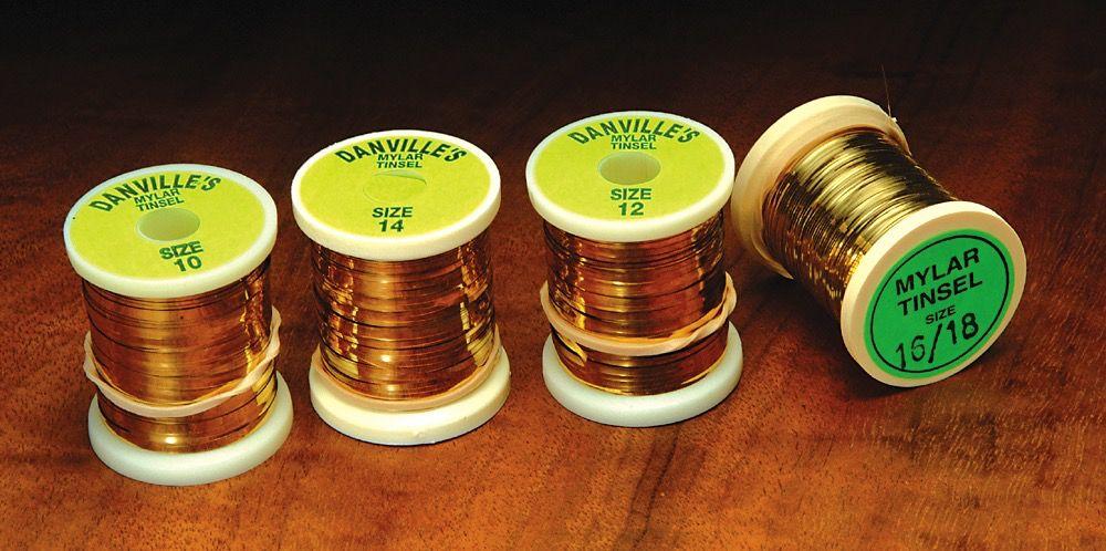 Hareline Flat Mylar Tinsel Gold/Silver