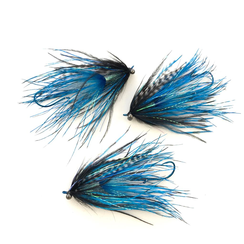 Aqua Flies Stu's Barred Ostrich Intruder, Pack of 3