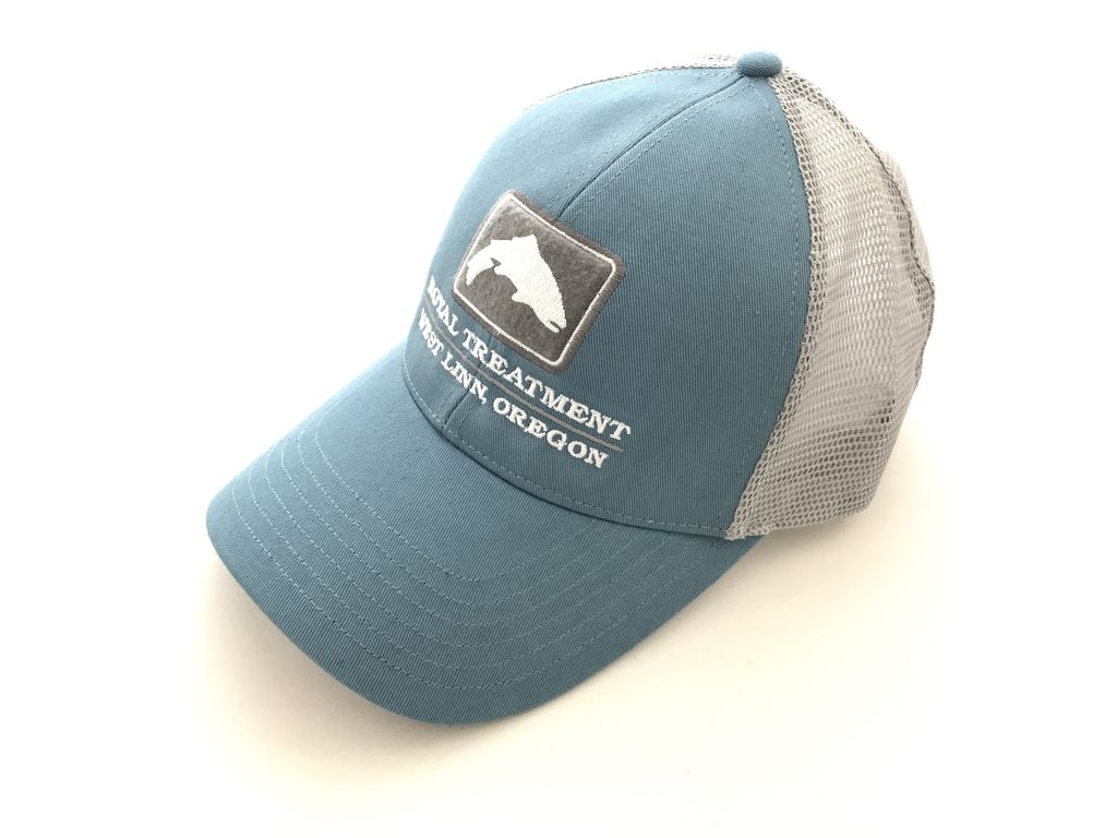 Royal Treatment RTFF Logo Trout Trucker Patch, Blue Stream
