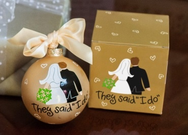 Bride Groom I Do Ornament