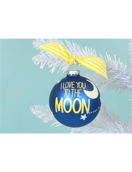 Ornament I Love You To The Moon And Back Glass Ornament