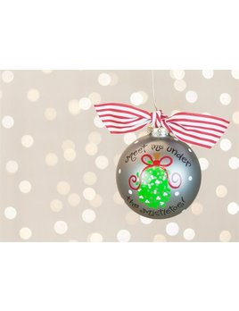 Ornament Mistletoe Glass Ornament