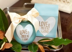Love Patient Kind Heart Glass Ornament