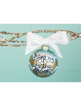 Ornament Metallic Bargello Mother of the Groom Glass Ornament