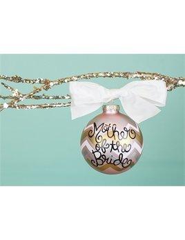 Ornament Metallic Bargello Mother of the Bride Glass Ornament