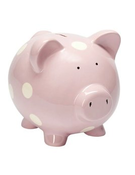 bank classic piggy bank pastel pink