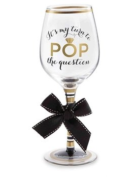 Wine Glass Pop the Question Wine Glass