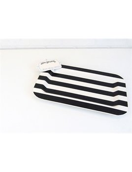 Platter Black Stripe Entertaining Mini Platter with Now Serving Mini Attachment