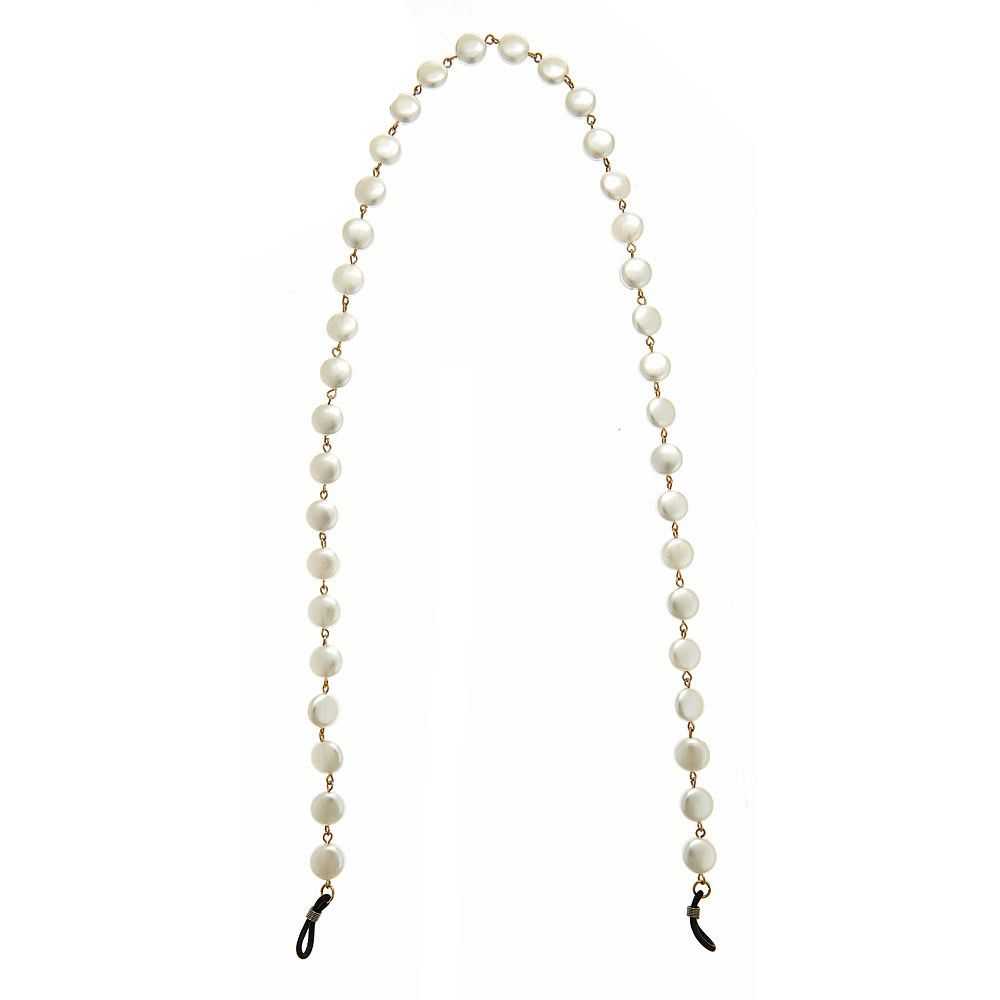 Misc Blanche Eyeglass Chain - Coin Pearl