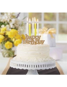 Happy Birthday Candle Holder/Cake Topper