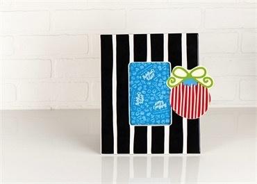 """Frame Black Stripe Mini 11"""" Frame"""