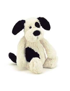 Bashful Puppy Black and Cream - Medium