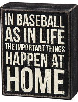 Sign Box Sign - In Baseball