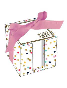Yay! Confetti Dots Notecube - 600 Sheets