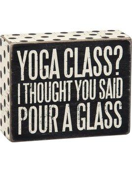 Sign Yoga Class Box Sign