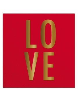 Napkin 20ct Napkin LOVE Foil