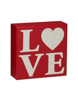Love Red Box Sign