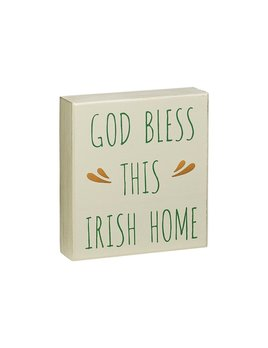 Sign God Bless This Irish Home Box Sign