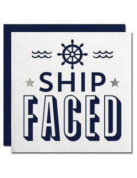 Napkin 20ct Ship Faced Beverage Napkin