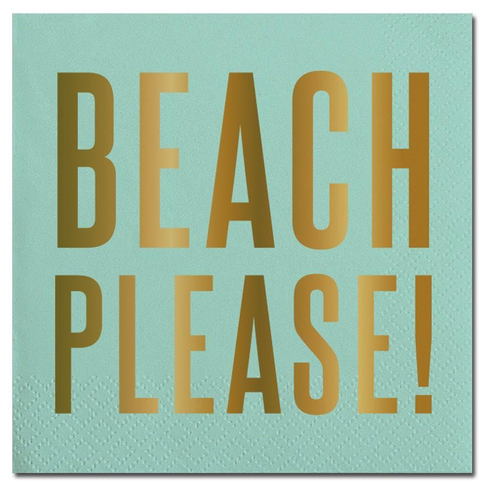 Napkin Beach Please! Beverage Napkins - 20ct