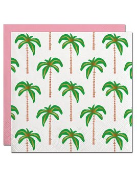 Napkin 20ct Palms Pattern with Gold Foil Beverage Napkin