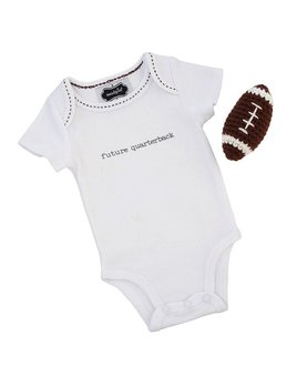 Onesie Football Crawler and Rattle Set